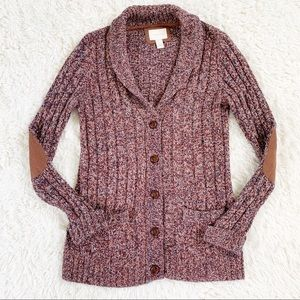 FOREVER 21 Red Marl Wool Blend Cardigan Sweater